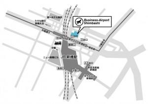 ビジネスエアポート新橋MAP